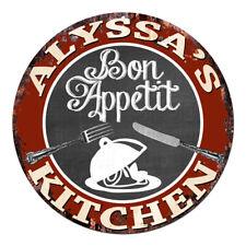 CPBK-0448 ALYSSA'S KITCHEN Bon Appetit Chic Tin Sign Decor Gift Ideas