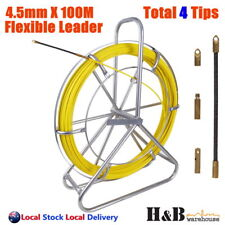 Pro 4.5mm 100m Telstra NBN Fiberglass Cable Fish Snake Rodder Puller Flex Lead