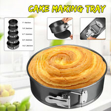 9.4'' Round Cake Mould Non-stick Toast Bread Baking Pan Removable Bottom Tray