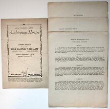 Gertrude Stein-Vintage 1935 Auditorium Theatre Program/Four Saints in Three Acts