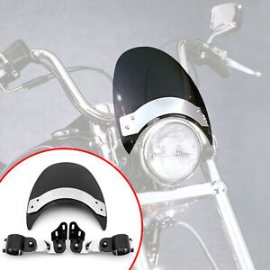 Small Windscreen Windshield Fits For Softail XL XLC XLH900 XLCH XLH1000 Black
