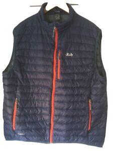rab microlight Vest Xxl Blue Packaway