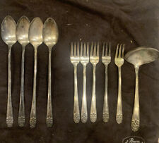 New ListingLot 10 Vtg 1954 Melody Silverplate Cocktail Forks Spoons by International Silver