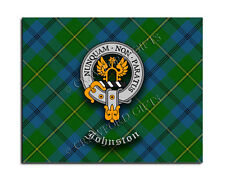 Johnston Clan Mouse Pad - Scottish Design Mat - High Quality - Tartan