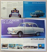 Original Werbeprospekt Auto Union DKW Junior um 1960 Automobile Oldtimer Audi xz