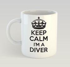 Keep Calm I'm A Diver Mug Funny Birthday Novelty Gift Dive Diving Swimming
