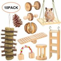 Hamster Chew Toys,Guinea Pig Rat Gerbil Chew Toys Accessories,Natural Wooden
