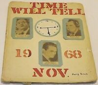 Vintage Scrapbook :  1968 Presidential Election : Nixon  Humphrey Wallace