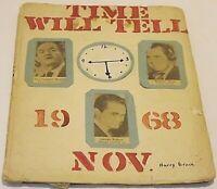 Vintage Scrapbook :  1968 Presidential Election : Nixon  Humphrey Wallace