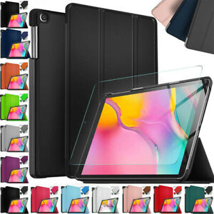 """Samsung Galaxy Tab A 10.1"""" T510 T515 2019 Tempered Glass Tablet Cover Smart Case"""