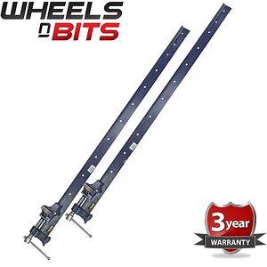 2x Sash Clamp T Bar 4 Foot (1200mm) Heavy Duty Cast Iron Wood Or Metal Workshop