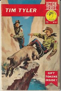 """UK Pocket Comic: Action Series #4 """"Tim Tyler"""" Young World Publications 1964"""