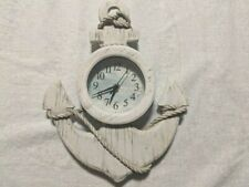 "Nautical Ships Anchor  Wall Clock Kitchen Home Decor  13"" by 11"""