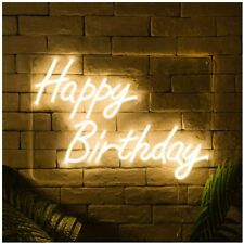 Happy Birthday Led Neon Sign Lights Art Wall Decorative Lights Party New Nib