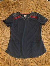 Dickies Women's Dark Gray Scrub Top Size S ~ Rn# 93643 / Ca#24480. Nwot
