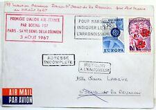 1967 BOEING 707 PARIS SAINT DENIS DE LA REUNION AIR FRANCE Premier vol AC128