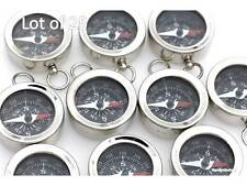Jewelry Making Compass Silver Finish Lot of 25