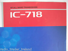 ICOM-718 (GENUINE BROCHURE ONLY)..........RADIO_TRADER_IRELAND.