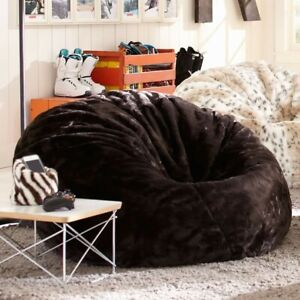 Brown Faux Fur Pottery Barn Teen Bean Bag- Used but in Great Condition