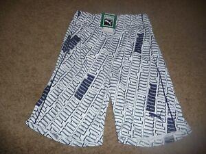 NEW NWT Boys size 10/12 blue/white Puma athletic shorts