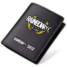Tom Clancys Rainbow Six - Siege Logo Black Pu Leather Bi-Fold Wallet 4.52*3.74''