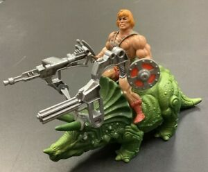MASTERS OF THE UNIVERSE HE MAN + BIONATOPS COMPLETE VINTAGE FIGURE 1981 MOTU TOY