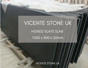 Honed Slate Slab | Hearth | Table | Paving | 1500 x 900 x 20mm