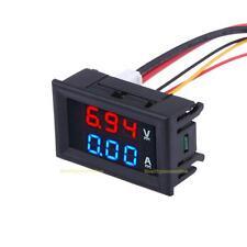 """0.28"""" DC 100V10A Amperemeter & Spannungsmesser Blau + Rot LED Digital Voltmeter"""