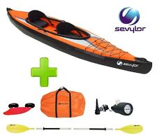 CANOA KAYAK GONFIABILE 2 POSTI SEVYLOR K2 POINTER ORANGE + 1 PAGAIA A 4 ELEMENTI