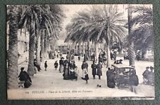 CPA. TOULON. 83 - Place de la Liberté. Allée des Palmiers. 1915.