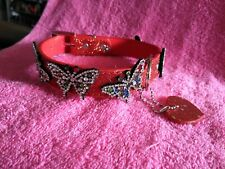 Bling Sparkle dog collar with rhinestone ButterfLy detailing