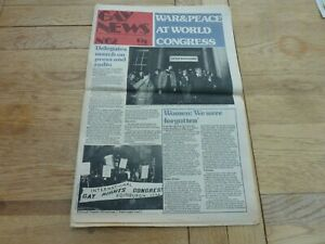 1974 RARE UK GAY NEWS NEWSPAPER No 62 WORLD CONGRESS 24 PAGES COMPLETE