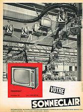 PUBLICITE ADVERTISING 035  1962  SONNECLAIR   téléviseur