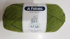 Patons Jet 12 Ply #853 Meadow Green Wool & Alpaca 50g