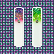 Glass Foot File & Pedicure Rasp Hand Painted Ethnic Collection, Callus Remover