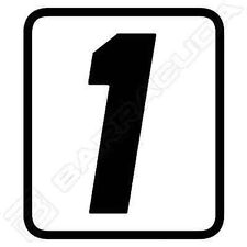 "N400/1 BARRACUDA 1 ADESIVO ""1"" per KIT TABELLE PORTA NUMERO per BMW R NINE T"