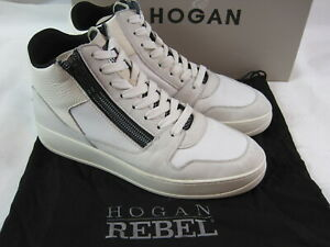 Hogan Rebel Herrenschuhe in 42 / UK 8 / Neuwertig / Weiss / hoher Neupreis