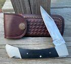 Vintage Ka Bar1607 Knife 8 5 Lock Back Folding Japanese Stainless With Sheath