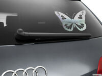 Butterfly Girl Car Styling Window Sticker Decal, Chrome