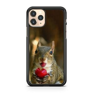 Cuddly Adorable Squirrel Luscious Cherry Fruit Colourful Fine Phone Case Cover