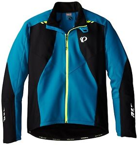NEW Pearl Izumi Pro Softshell 180 Men's Jacket 11131406 Mykonos Blue/Black Large