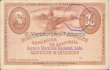 GUATEMALA UNION POSTAL UNIVERSAL FERROCARRIL AGENCIA MARITIMA NACIONAL ABNC