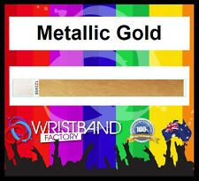 100 x Tyvek Metallic Gold Party Function Event Wristband