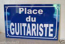 RÉPLIQUE plaque de rue GUITARISTE  guitare  fender marshall gibson epiphone