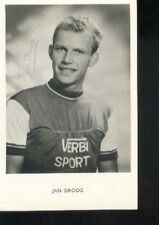 JAN DROOG cyclisme wielrennen cycling vélo SIGNED VERBI