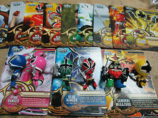 Power Rangers Samurai Trading Cards and Figure Set (All 6 Figures and 18 Cards)