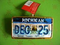 Christopher Radko Michigan My Michigan Glass Ornament