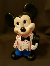 VINTAGE DISNEY PRODUCTIONS MOLD MICKEY MOUSE HAND PAINTED CERAMIC 9""