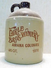 EHRLE BROTHERS WINERY AMANA COLONIES 4/5'S QT.JUG / DECANTER AMANA IOWA 1976