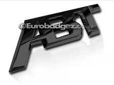 1 - BRAND NEW ABT 3D Adhesive Rear Badge Emblem Fits Audi VW (GLOSS BLACK ABT)